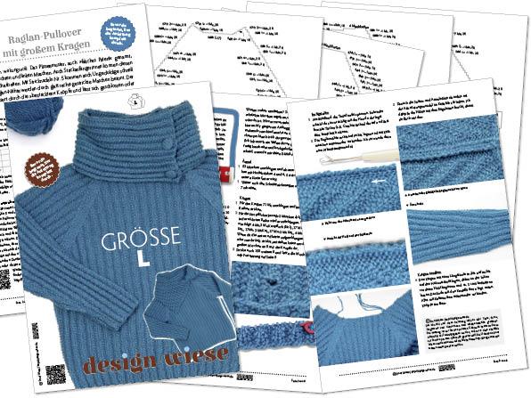 Anleitung Raglan-Pullover aus Garn von DROPS