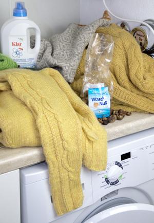 Mit Waschnüssen Wolle waschen