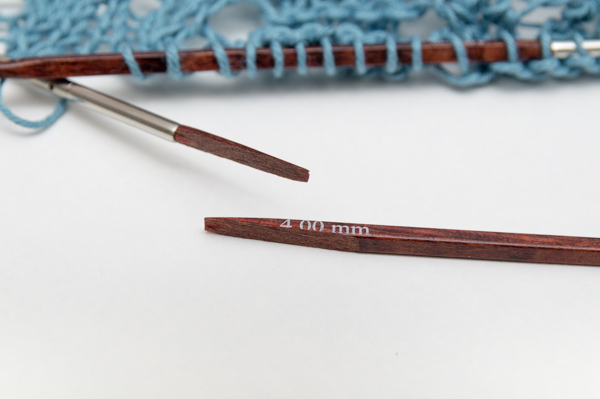 Zerbrochene Knit Pro Stricknadel