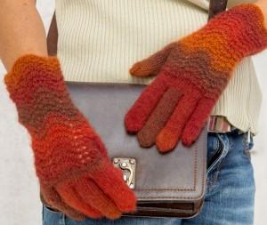 Fingerhandschuhe mit Wellenmuster