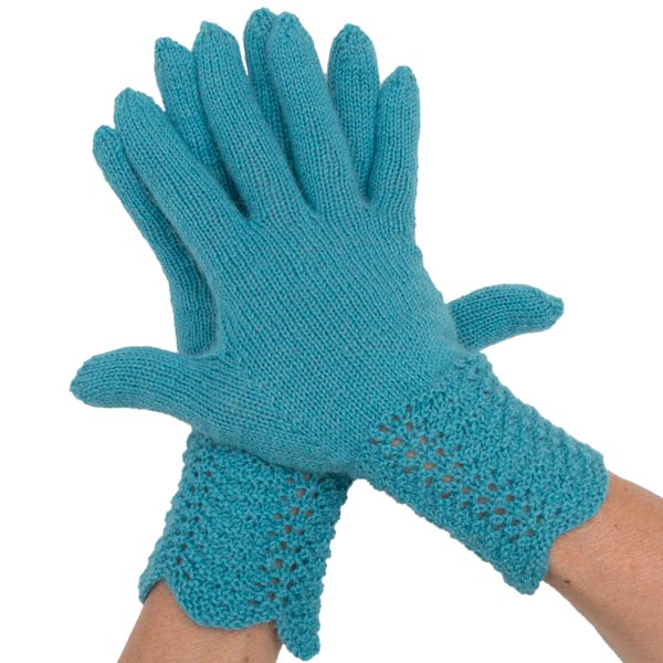 """Fingerhandschuhe, gestrickt aus dem Drops-Garn """"Flora"""""""