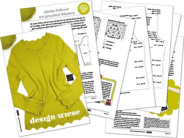 Anleitung zum Pullover aus Alpaca von DROPS