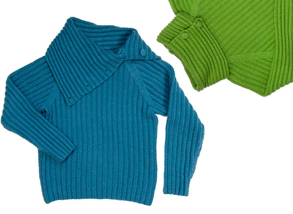 Raglan-Pullover grosser Kragen