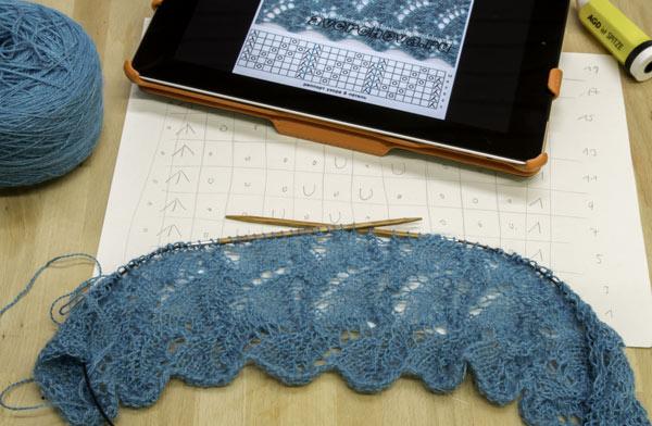 Ajour-Muster für einen Lace-Schal