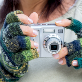 Fingerhandschuhe mit offenen Fingerkuppen