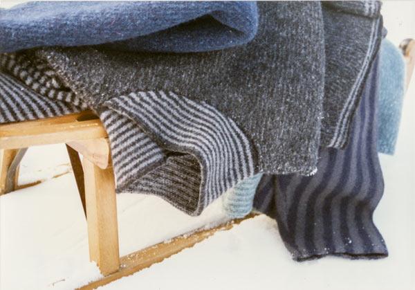 Pullover mit Schalkragen, geringelt