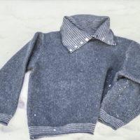 Pullover gefilzt