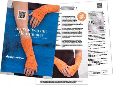 PDF-Vorschau der Anleitung für lange Armstulpen