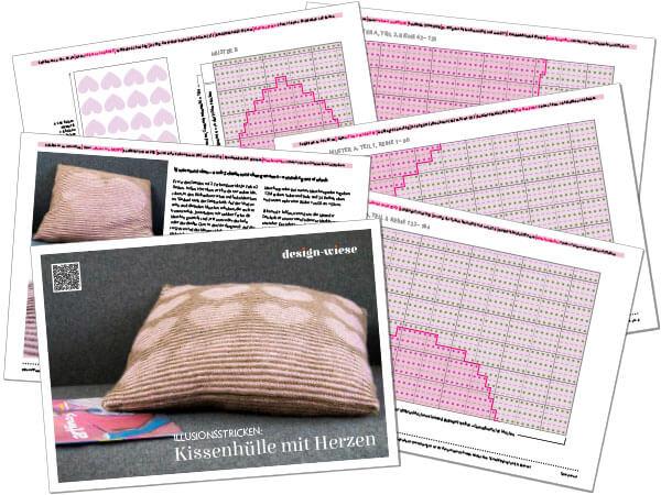 PDF-Vorschau der Anleitung zum Herzkissen